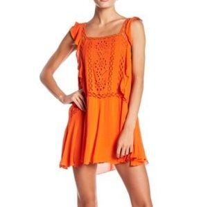 Free People Priscilla Coral Dress